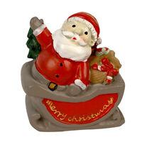"2"" Christmas Village Figurine Hand Crafted Décor Santa Clause"