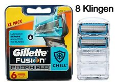 8x Gillette Fusion ProShield Chill / 8er razor blades Gilete Gillete 6er + 2