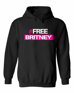 Slogan Hash Tag Free Britney Protest Fan Movement Woman's Power Hoodie