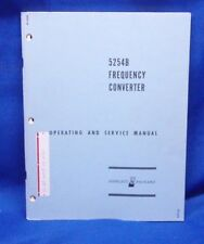 HP 5254B Frequency Converter SERVICE Manual