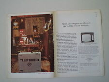 advertising Pubblicità 1967 TELEVISORE TELEFUNKEN 36 L