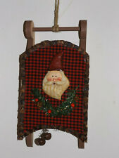 Christmas Decoration Christmas Decorations Santa Claus Sledge Wood 32 16 2in