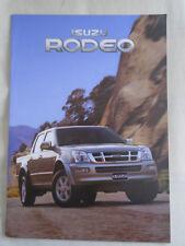 Isuzu Rodeo range brochure Dec 2004
