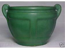 Roseville American  Arts & Crafts Pottery #548 Green Flower Pot