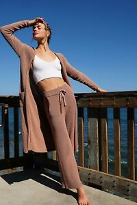 NEW FREE PEOPLE BEACH Sz S OUT OF OFFICE 3 PC CARDIGAN DUSTER ,TANK ,& PANT SET