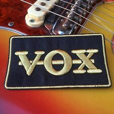 VOX guitar amp amplifier vintage style patch limited edition gold