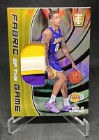 Kyle Kuzma 2017-18 Totally Certified Fabric Of The Game 3 Color Fat Patch 1/10