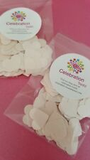 100 pk- Metallic cream hearts- scrapbooking/ table scatters- 260 gsm