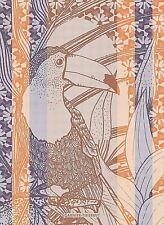 GARNIER THIEBAUT, TUCANO, WAX (TOUCAN BIRD), WOVEN FRENCH KITCHEN / TEA TOWEL