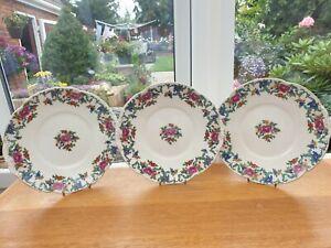 3 x Plates - Floradora Pattern