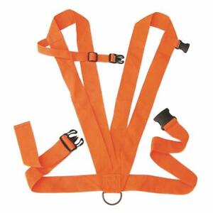 "Allen Blaze Orange Heavy Duty Deer Drag Harness 2"" Web Design Rope Included"