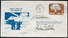 s428) Raumfahrt  Space Shuttle Enterprise EAFB 17.6.1977  OU Haise + Fullerton