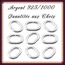 Anneaux ovales ouverts 5x7mm fil 1mm, en Argent 925/1000 . Réf: JROV135