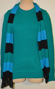 Women's Rue 21 Teal Green Long Sleeve Sweater Top With Bonus Scarf Jrs. S, M