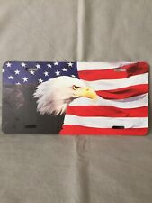 "Front Car Plate ""Eagle & Flag"" Metal"
