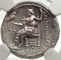 ALEXANDER III the GREAT Authentic Ancient Silver TETRADRACHM Coin NGC i69801
