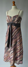 Ladies Roman Originals Pink & Mink Beige Dress Size UK 14