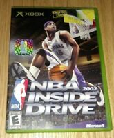 NBA INSIDE DRIVE 2002 - XBOX - COMPLETE WITH MANUAL - FREE S/H - (OO)
