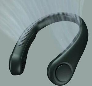 JISULIFE Mini Neck Fan Portable Bladeless USB Rechargeable Mute Sports Fans for