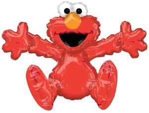 "XL 26"" Sitting Elmo Air Filled Mylar Balloon Sesame Street Party Decoration"