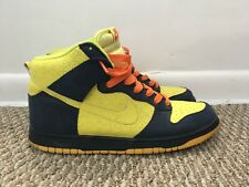 Nike Dunk High The Simpsons Men's 11.5 Voltage Yellow Midnight Navy 317982-772