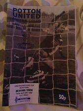 Potton United v Bedford Town football programme 1994
