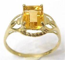 10K GOLD NATURAL 1.50 CARAT NATURAL CITRINE RING