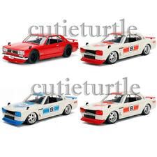 Jada JDM Tuners 1971 Nissan Skyline GT-R KPGC10 1:24 Red White Blue 30009 Set
