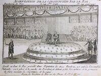 Constitution de 1791 Assemblée Nationale Roi Louis 16 Révolution Française