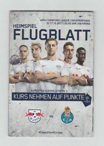 Orig.PRG   Champions League   2017/18   RB LEIPZIG - FC PORTO  !!  RARE