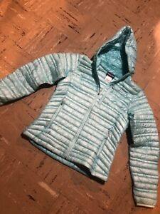 $349 PATAGONIA Ultralight Down Hoody Jacket Red Women's Size Small S