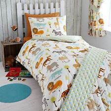 MY SAFARI ANIMALS JUNIOR TODDLER BED DUVET COVER SET NEW LION