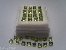 peridot 4mm square gemstone,£1.50p each.