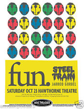 Fun / Steel Train 2010 Portland Concert Tour Poster - We Are Young