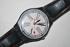 1993 Swatch Watch GM113 SUGARLESS Swiss Quartz Unisex Originals Leather