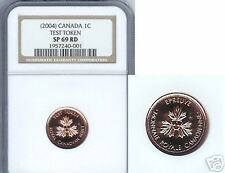 2004 CANADA 1 CENT  TEST TOKEN NGC SP-69 RED