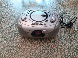 Alba silver portable Radio CD & cassette player