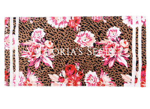 NWT Victoria's Secret Beach Towel Cheetah and Peonies One Size