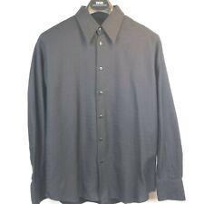 Mondo di Marco Men's Size 52 L Black Chevron Pattern Shirt pre-owned A18249