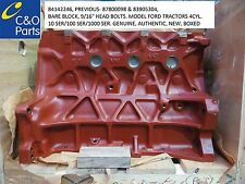 84142246, FORD NEW HOLLAND TRACTOR BARE BLOCK, GENUINE, BRAND NEW, BOXED,