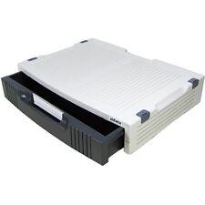Aidata PC LAPTOP COMPUTER MONITOR STAMPANTE STAND STORAGE 1 cassetti ALZATA dello schermo