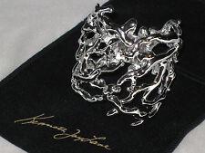Kenneth Jay Lane Branch Cuff Polished Silver-Tone Bracelet  NEW!