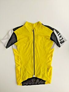ASSOS MENS SS.13 MILLE CYCLING YELLOW  JERSEY MEDIUM GOOD CONDITION