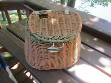 Vintage Medium Wicker Fishing Creel
