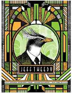 Jeff Tweedy (Wilco) New York City 2010 Gig Poster (Silkscreen) 18 x 24' Print
