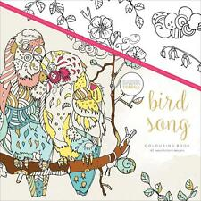 BIRD SONG Adult Coloring Book For Markers Watercolors Pencils KAISERCRAFT New