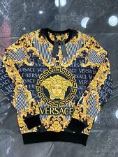 New With Tags Men's VERSACE SWEATSHIRT Slim Fit Size M to 3XL