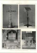 1907 Cross, Lectern, Organ Case Front St Andrew's Church Roker
