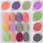 12 Colors Nail Art Glitter Powder Dust For UV GEL Acrylic Powder Decoration Tips