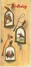 New listing VINTAGE EQUESTRIAN HORSE DOG HUNTER HUNTING HUNTSMAN BIRTHDAY CARD PRINT